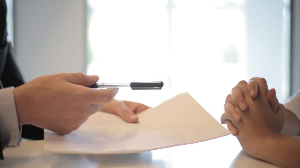 保険加入のサイン