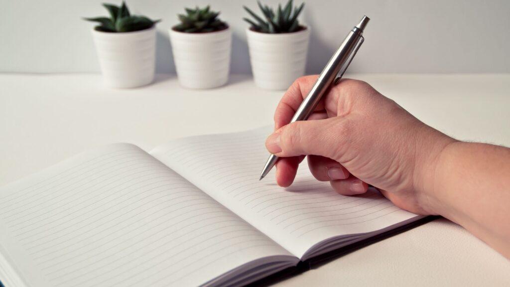 ルールをノートに書く